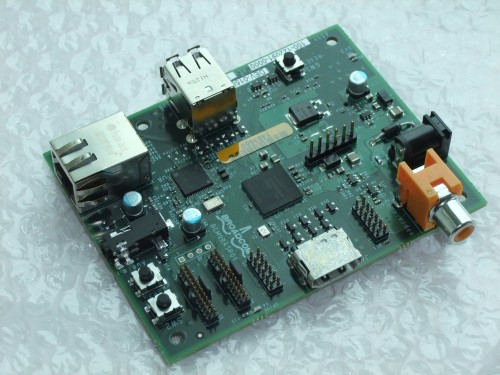 Raspberry Pi alpha board, top view