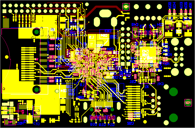 Final PCB artwork - Raspberry Pi on