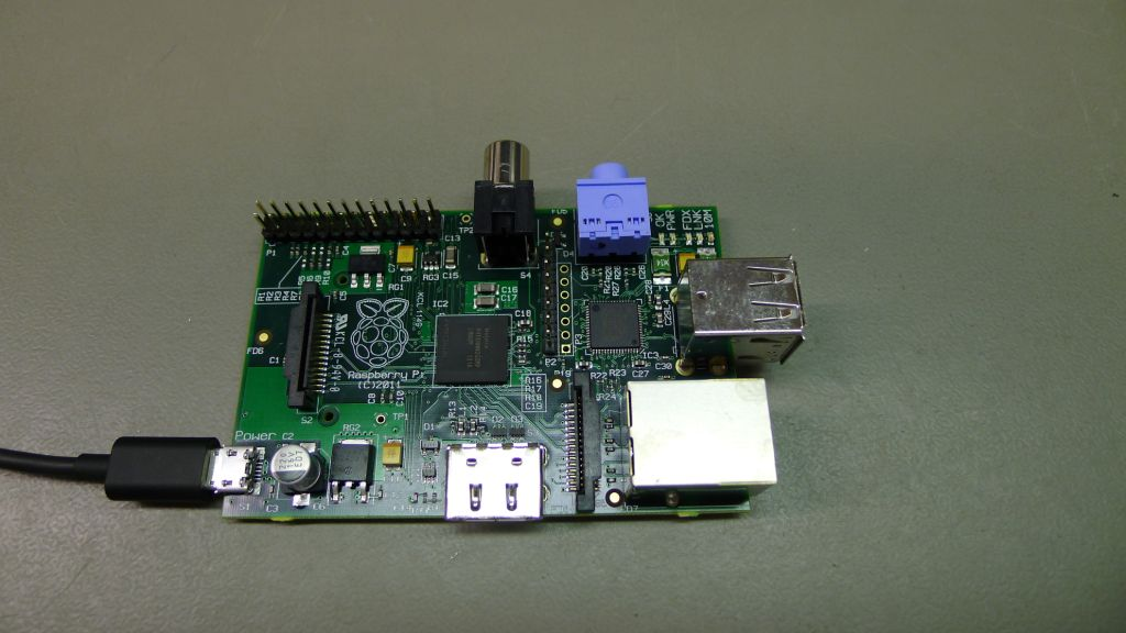 Raspberry Pi beta board, populated