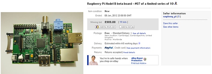 Raspberry Pi on eBay