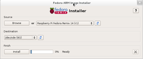 Fedora installer screenshot