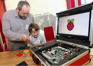 Raspberry Pi and something much bigger
