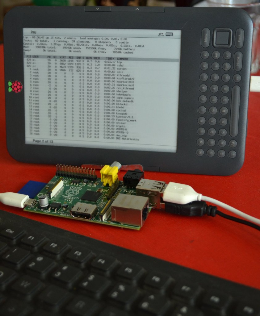 Raspberry Pi with Kindle as display