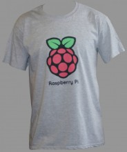 Grey shirt with Raspberry Pi logo