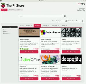 Pi Store menu