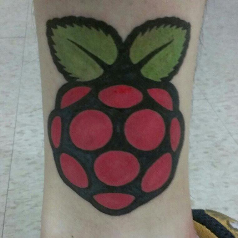 Raspberry Pi tattoo
