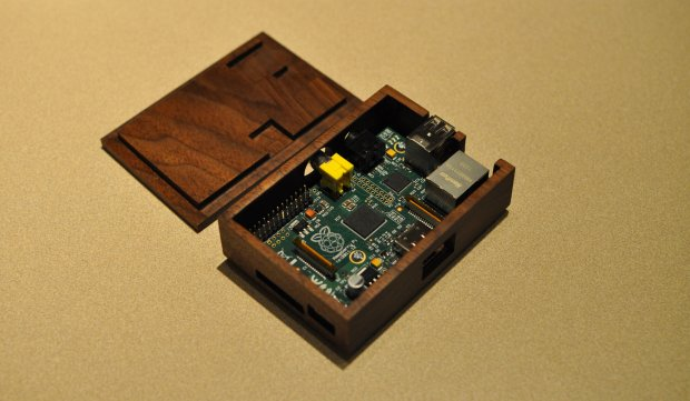 walnut Raspberry Pi case