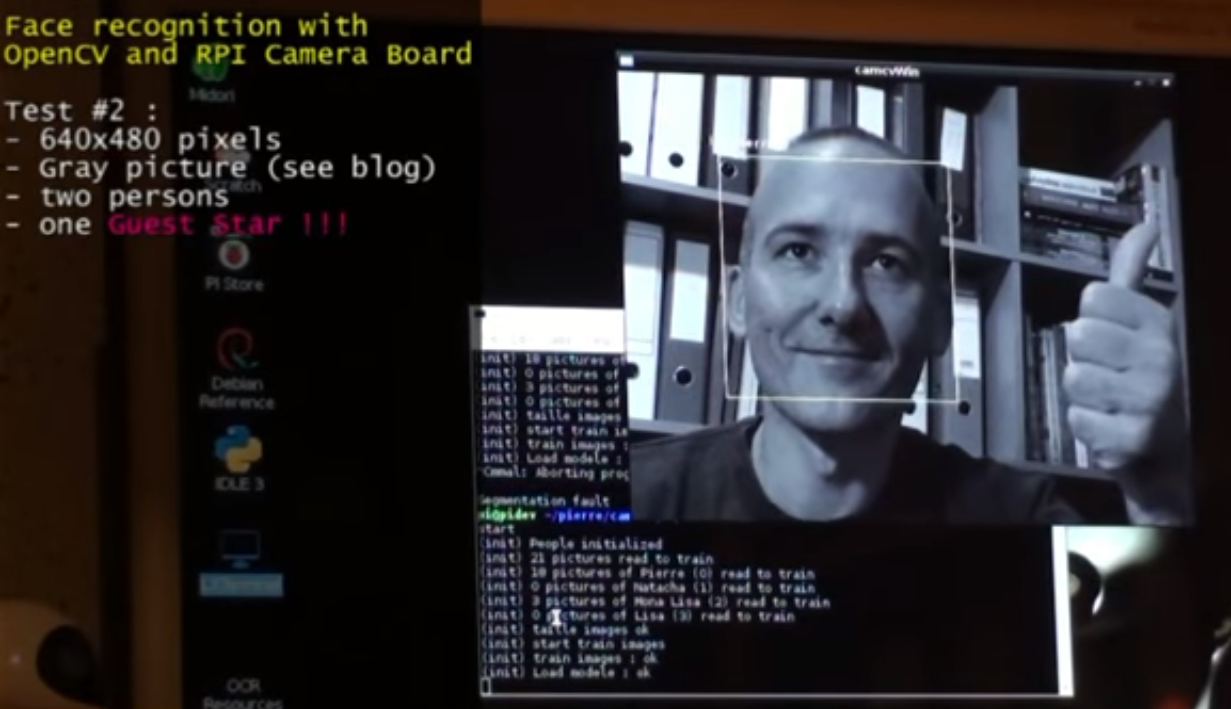Facial recognition: OpenCV on the camera board - Raspberry Pi