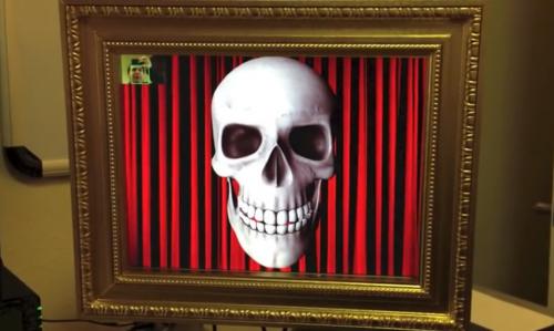 Creeptacular face-tracking Halloween portrait