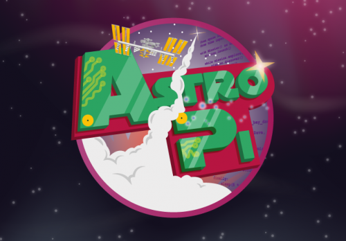 Astro Pi logo with starry background