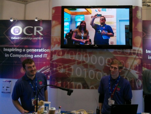 The Raspberry Pi Foundation Education Team at Bett 2014