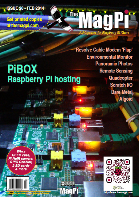 Cover of Magpi magazine issue 20