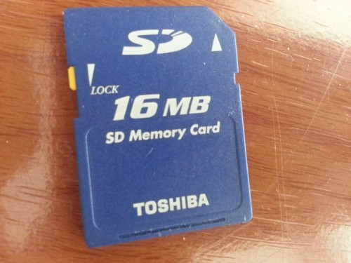 16MB SD card