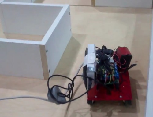RobotPi navigates its maze