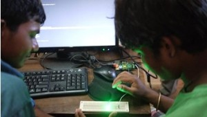 Karigarshala students mastering hardware control of an LED via the Raspberry Pi GPIO