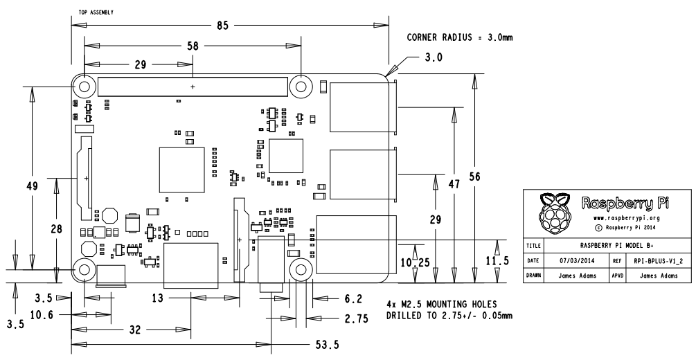 raspberry pi b  schematic
