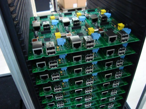 Completed six-up panels ready for testing