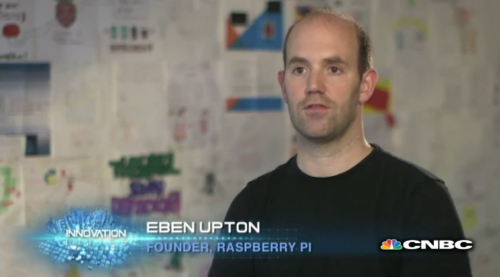 Here's Eben on TV earlier this year, in front of last year's poster competition entries
