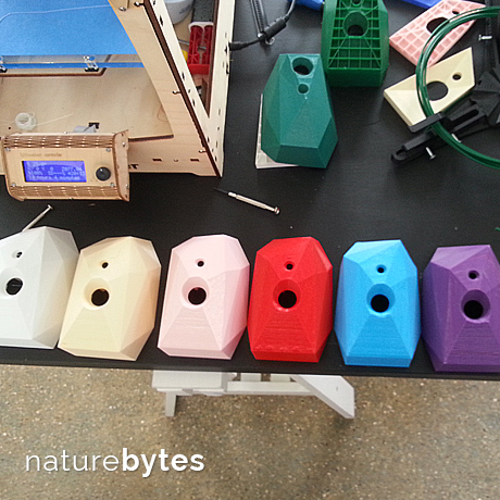 A colourful collection of camera trap enclosures