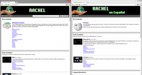 RACHEL is accessed via a web browser