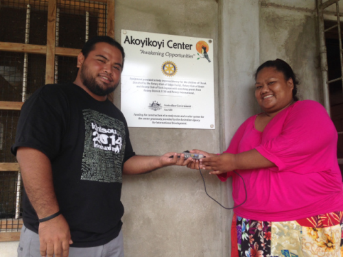 Grace, a teacher at Akoyikoyi School in Chuuk, receives a RACHEL-Pi