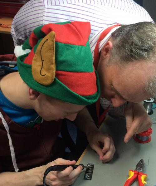 Raspberry Pi Elves Ben and Gert