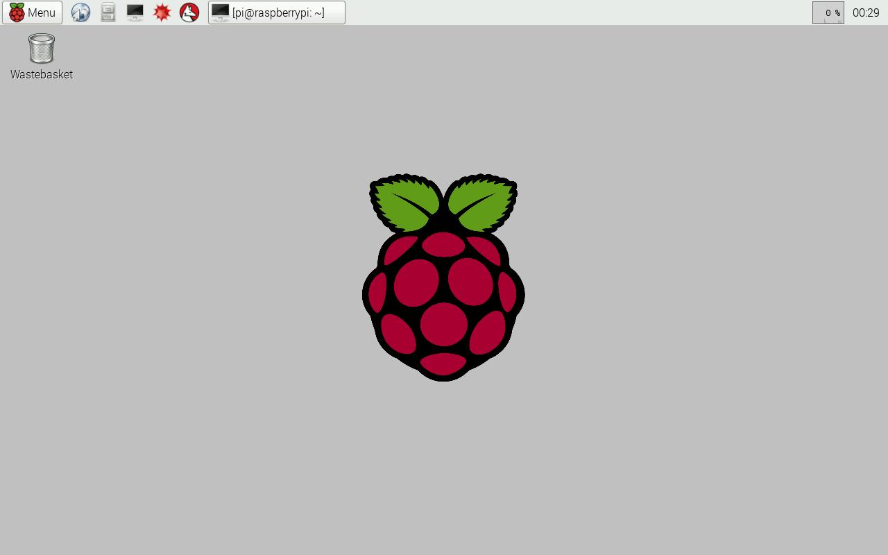 Screenshot of clean Raspbian desktop