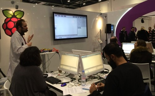 Dr Sam Aaron, creator of Sonic Pi, showing people how to create beautiful music with code