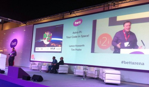 Lance Howarth and Astro Pi on Bett Arena
