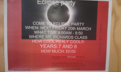 School eclipse party