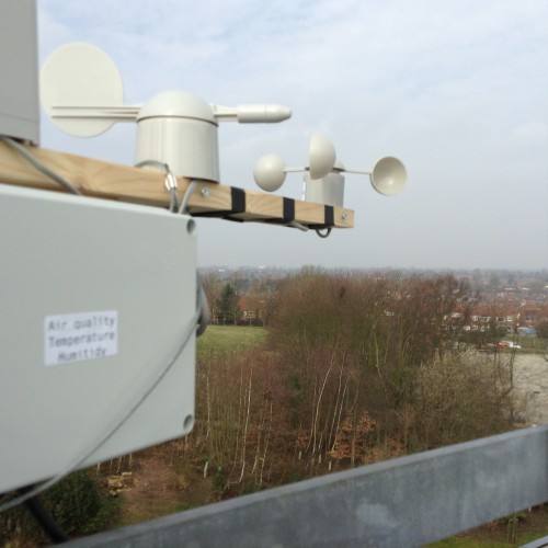 Weather station prototype on National STEM Centre roof