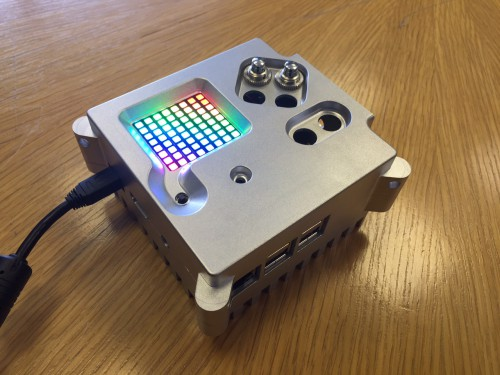An Astro Pi unit in its flight case