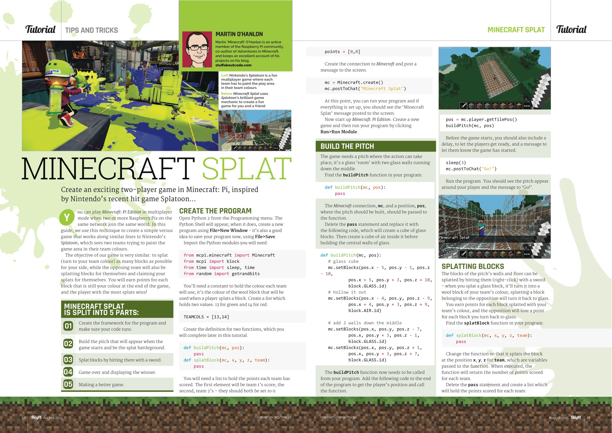 Raspberry Pi Blog News Announcements And Ideas Using Circuit Boards The Designer Created Two Chic Board 36 Minecraft Splat