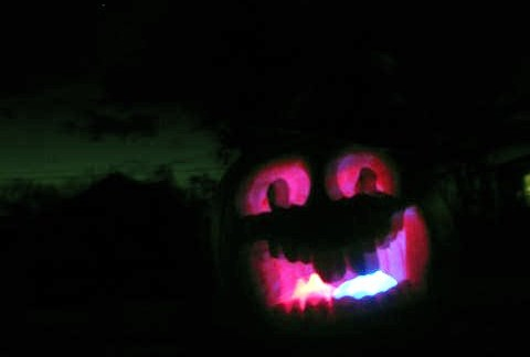 LED-lit pumpkin