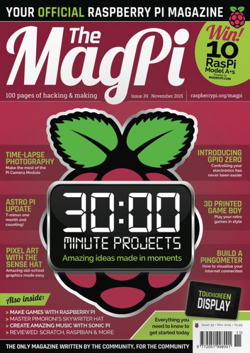 The MagPi #39 is out now!