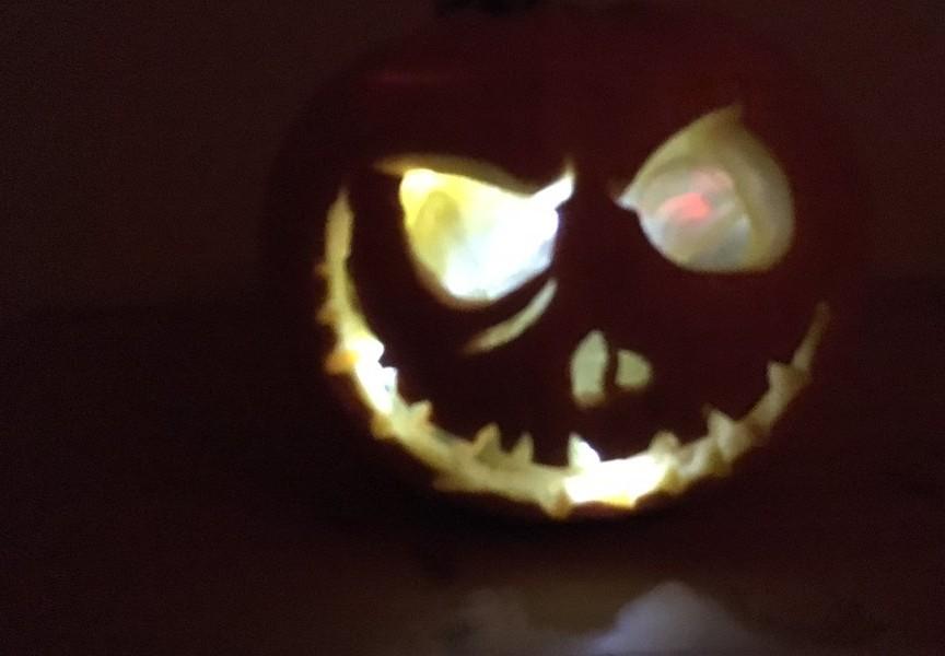 Raspberry Pi-powered pumpkin by David Pride