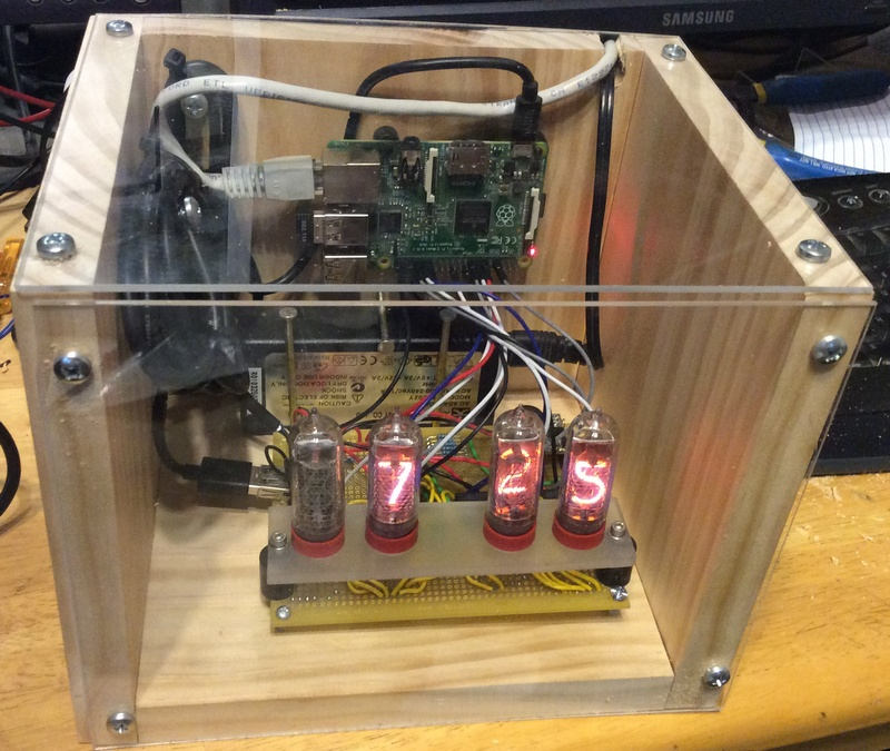 Alex's Nixie Clock - Raspberry Pi