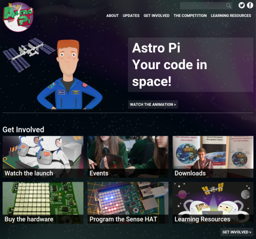 The new Astro Pi website