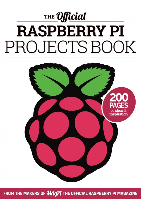 A picture of the cover of the Official Raspberry Pi Projects book