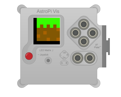 "An Astro PI flight unit in its flight case, displaying the icon for Hannah's Astro Pi competition entry, ""SpaceCRAFT""."