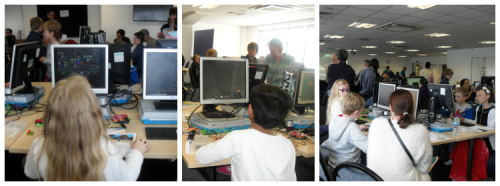 Young Southenders get stuck into a Minecraft Hackathon at the Southend Raspberry Jam