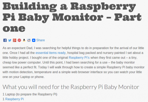 raspberry pi baby monitor raspberry pi. Black Bedroom Furniture Sets. Home Design Ideas