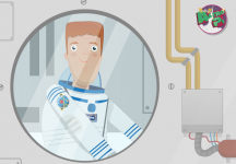 Tim on ISS w Astro Pi mission patch - feature