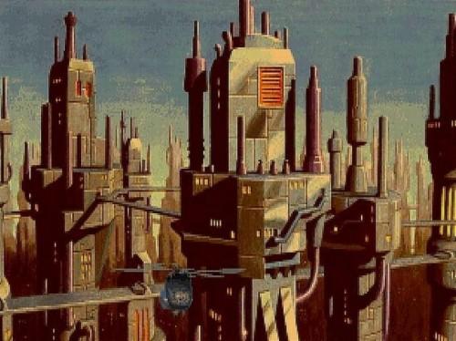 A cyber-punk dystopia Beneath a Steel Sky.