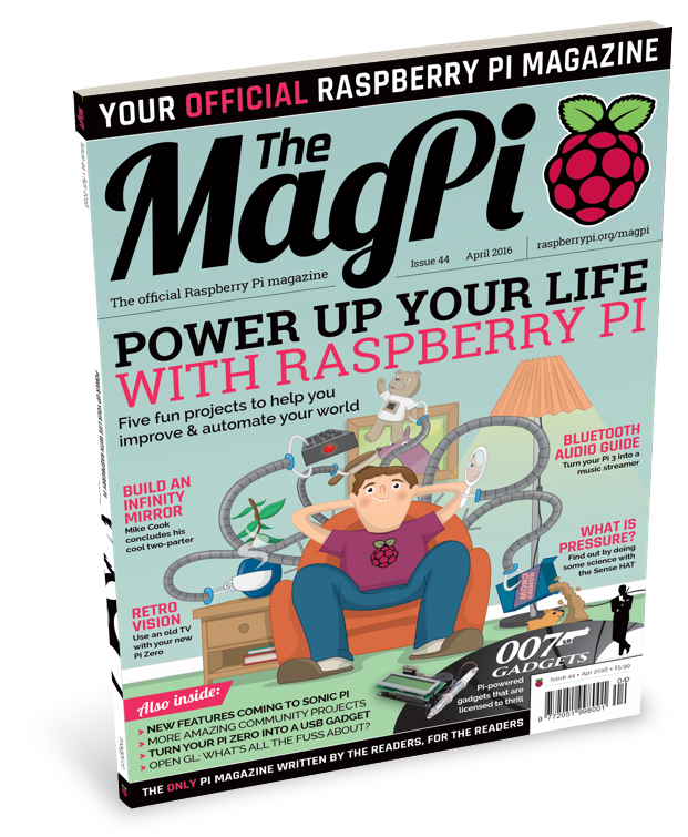 Power up your life with issue #44 of The MagPi