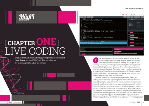 Learn to live code with Sonic Pi
