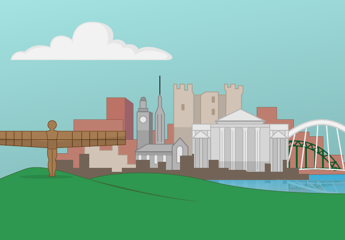 Our condensed version of the Newcastle skyline