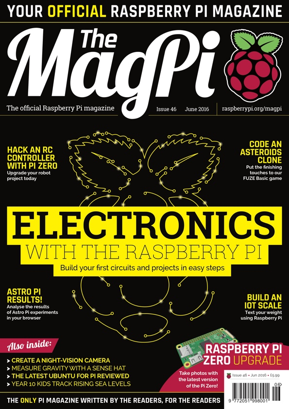The MagPi magazine #46 is out now!