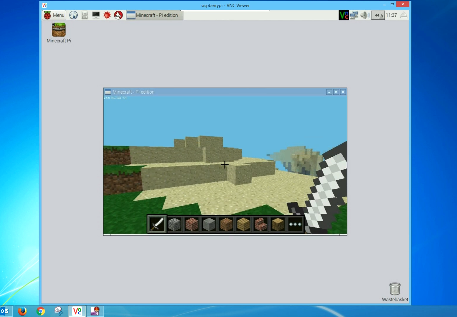 Minecraft Pi (and more) over VNC