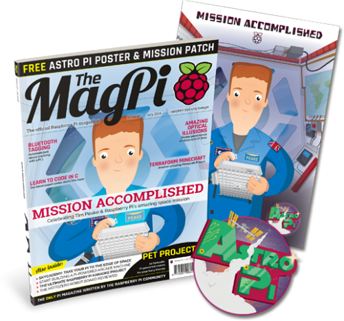 Get your free poster and mission patch exclusively in the print edition of The MagPi 47!